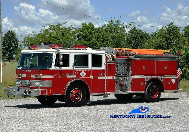 <center> Northern Pendleton Engine 2803 <br> x-Okolona, KY; Kenton, KY <br>  1989 Pierce Arrow/1984 E-One 1500/750 <br> Greg Stapleton photo </center>