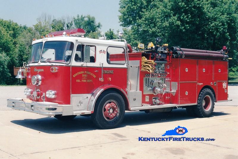 <center> RETIRED  <br> Northern Pendleton Engine 2803 <br> x-Wilder, KY <br> 1976 Seagrave PB 1500/750 <br> Greg Stapleton photo </center>