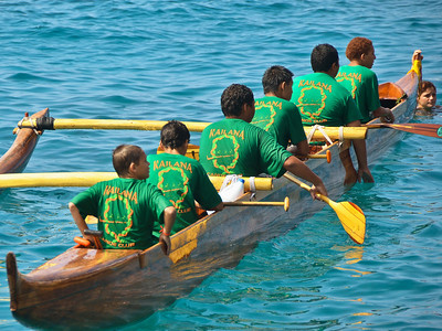 Kailua-Kona canoe races. Big Island Hawaii, May 19, 2012.