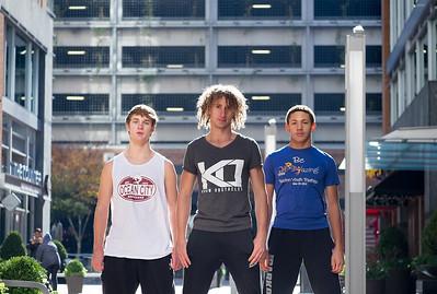 Parkour athletes at Reston Town Center