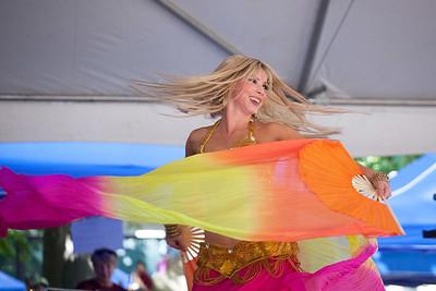 Bellydancer at the Reston Multicultural Festival