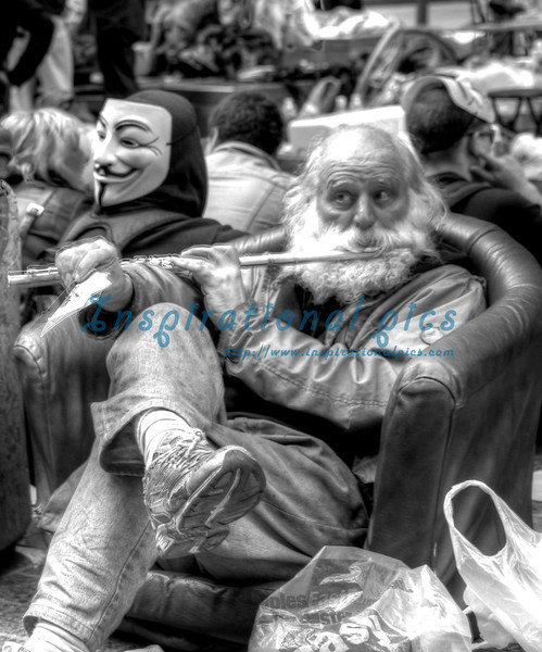 Occupy Wall Street HDR Zuccotti Park