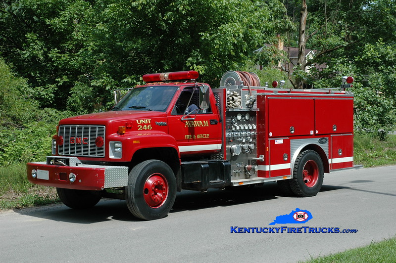 <center> Avawam  Engine 246 <br> 1993 GMC Topkick/E-One 1250/1000 <br> Greg Stapleton photo </center>