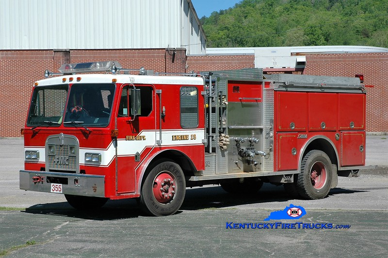Buckhorn  Engine 355<br /> x-Green, OH<br /> 1985 Kenworth T-300/FMC 1000/750<br /> Greg Stapleton photo