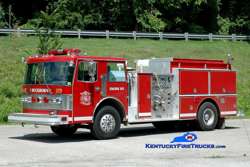 <center> Buckhorn  Engine 353 <br> x-Monroe, NC <br> 1987 Duplex D-350/Grumman 1500/1000 <br> Greg Stapleton photo </center>