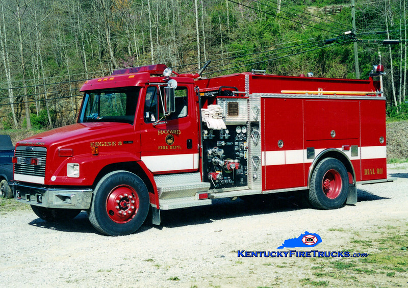 <center> Hazard Engine 3 <br> 1999 Freightliner FL80/Pierce 1250/1250 <br> Greg Stapleton photo </center>