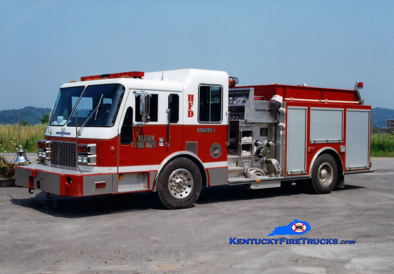 <center> Hazard Engine 1 <br> 1993 American LaFrance Patriot 1500/750 <br> Greg Stapleton photo </center>