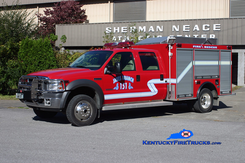<center> Jakes Branch  Rescue 151 <br> 2005 Ford F-550 4x4/Wynn <br> Kent Parrish photo </center>