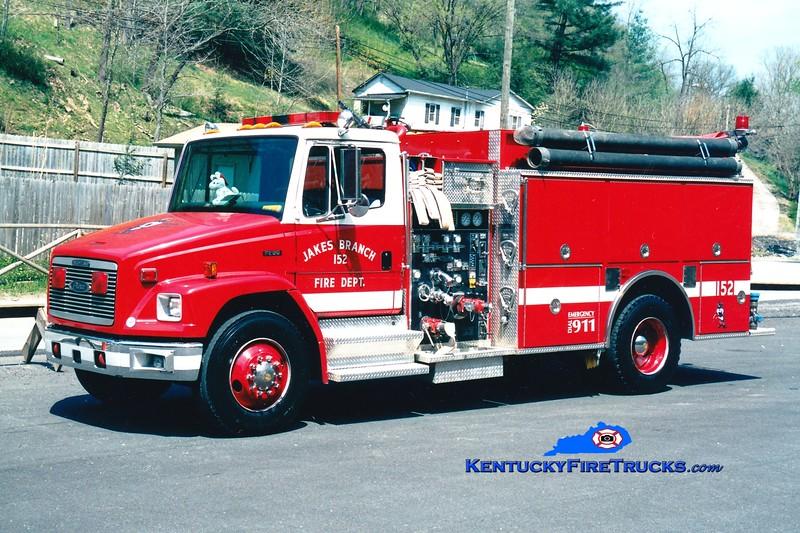 <center> Jakes Branch  Engine 152 <br> 1994 Freightliner FL80/Pierce 1250/1250 <br> Greg Stapleton photo </center>
