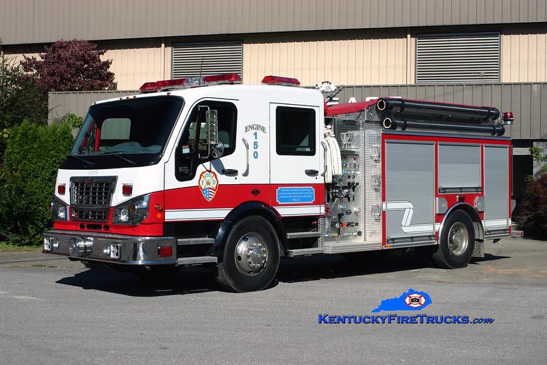 <center> Jakes Branch  Engine 150 <br> 2008 Spartan Furion/2009 Wynn  1250/1000/CAFS-20<br> Kent Parrish photo </center>