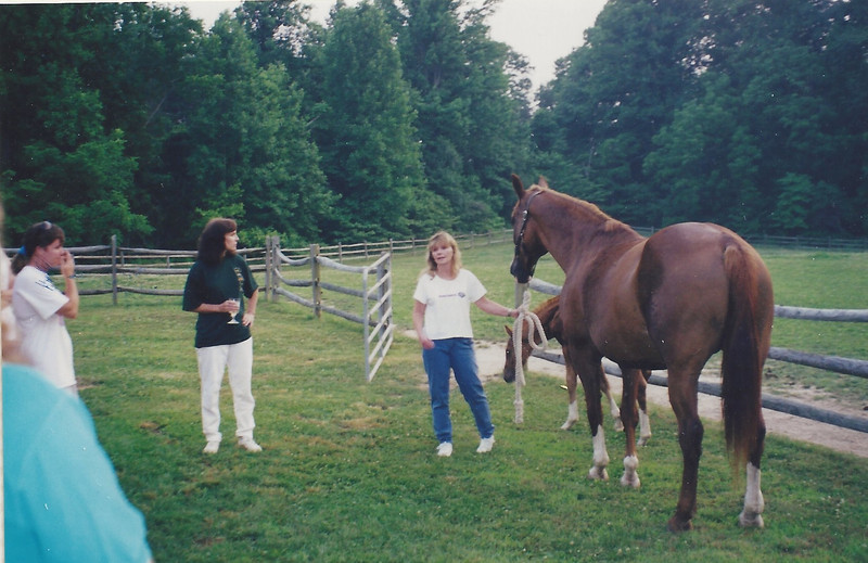 Meeting at Rill Stover - nee Zepp - about breeding - 1997