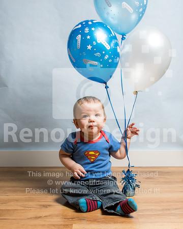 Freddie's First Birthday photoshoot