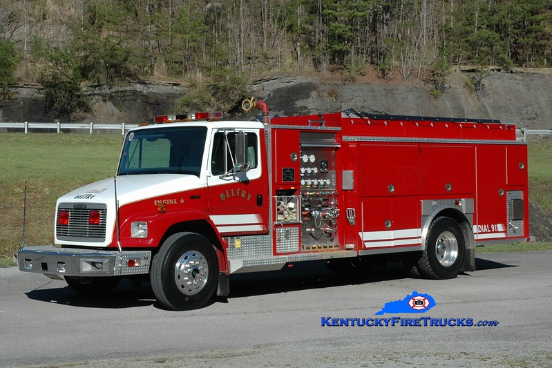 Belfry  Engine 6<br /> 1996 Freightliner FL80/Precision 1000/2000<br /> Greg Stapleton photo