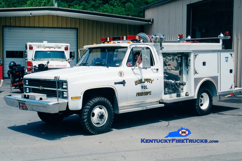 <center> RETIRED <br> Belfry  Rescue 3 <br> 1984 Chevy 4x4/Allegheny 250/200 <br> Greg Stapleton photo </center>