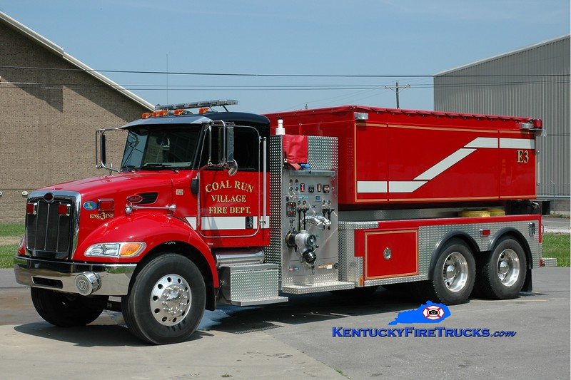 <center> Coal Run Village Engine 3  <br> 2008 Peterbilt/Freedom Fire 1000/3000 <br> Greg Stapleton photo </center>