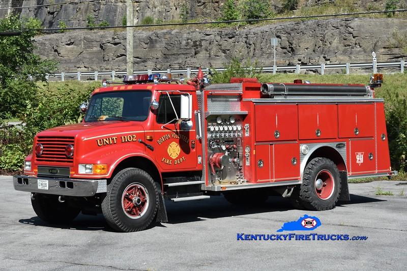 Dorton  Engine 1102<br /> x-West Athens, NY<br /> 1990 International 4900/E-One 1250/1250<br /> Greg Stapleton photo