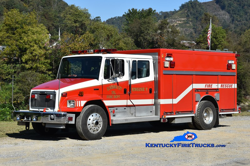 Elkhorn City Engine 7<br /> 1999 Freightliner FL80/E-One 300/300<br /> Greg Stapleton photo
