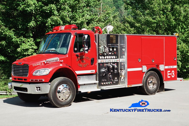 <center> Elkhorn City  Engine 3  <br> 2004 Freightliner M2-106/American LaFrance 1250/1000 <br> Greg Stapleton photo </center>