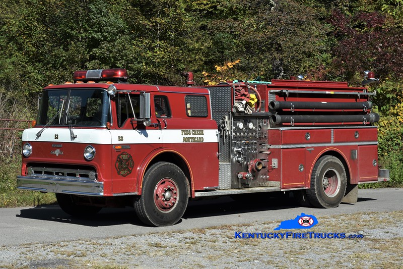 Feds Creek  Engine 3 <br /> x-Southeast Bullitt, KY<br /> 1986 Ford C-8000/Grumman 1000/1000<br /> Greg Stapleton photo