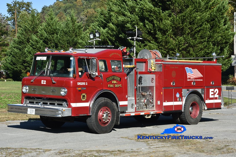 Grapevine Engine 2 <br /> x-Martin, KY <br /> 1988 Ford C-8000/American Eagle 1250/750<br /> Greg Stapleton photo