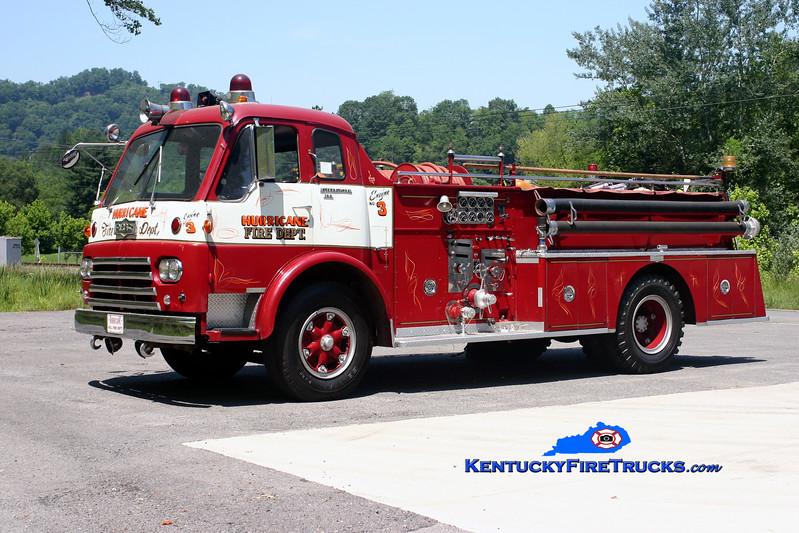 <center> Hurricane Creek  Engine 3  <br> x-Dunlap, OH  <br> 1964 International VCO/Pirsch 750/500 <br> Kent Parrish photo </center>