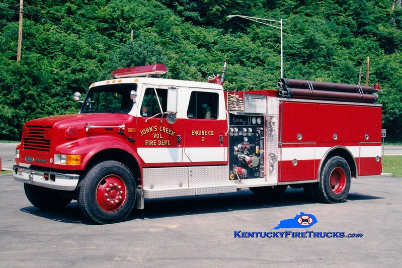 <center> John's Creek  Engine 2 <br> 1993 International 4900/Pierce 1250/1000 <br> Greg Stapleton photo <br> </center>
