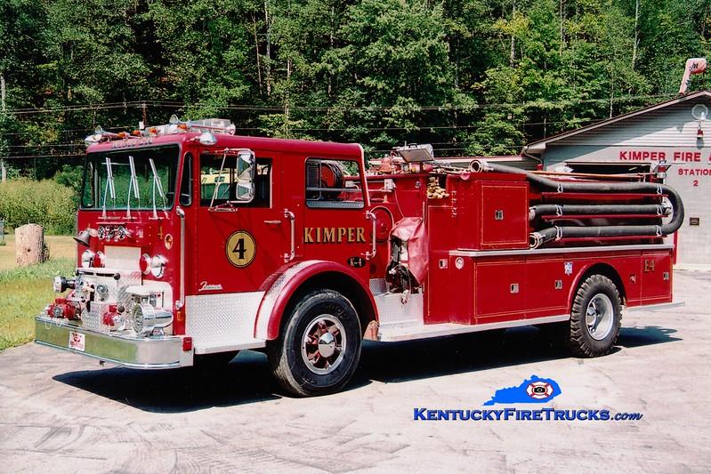 <center> RETIRED <br> Kimper Engine 4 <br> x-Monterey, MA <br> 1976 Duplex/Farrar 1000/1000 <br> Greg Stapleton photo </center>