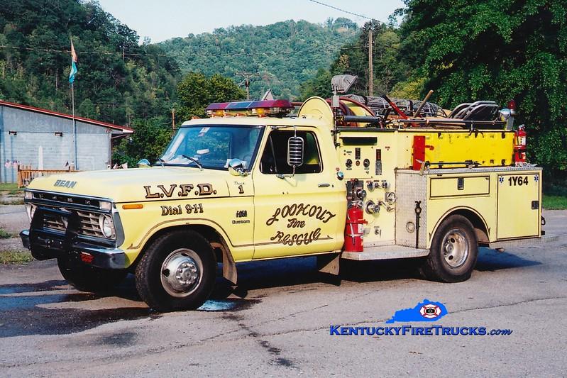 <center> Feds Creek  Truck 1  <br> 1974 Ford F-350/Bean 750/250 <br> Greg Stapleton photo </center>