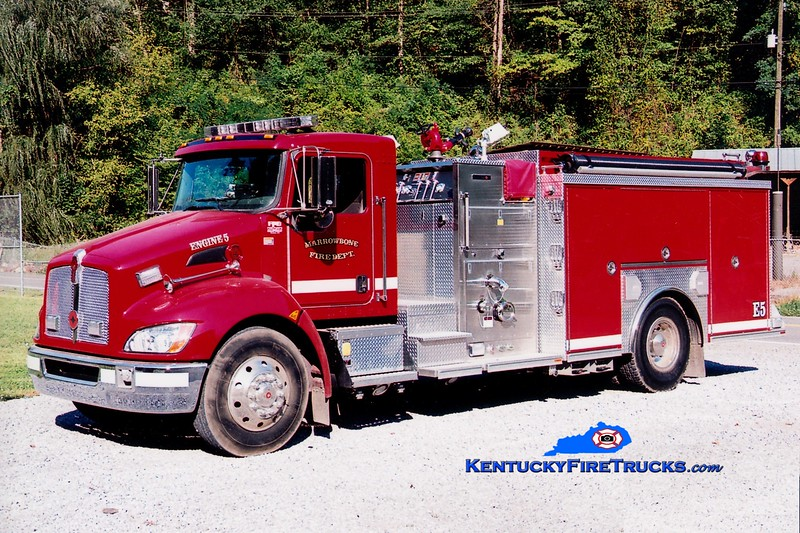 <center> Marrowbone  Engine 5 <br> 2008 Kenworth T-300/Crimson 1500/1000  <br> Greg Stapleton photo </center>