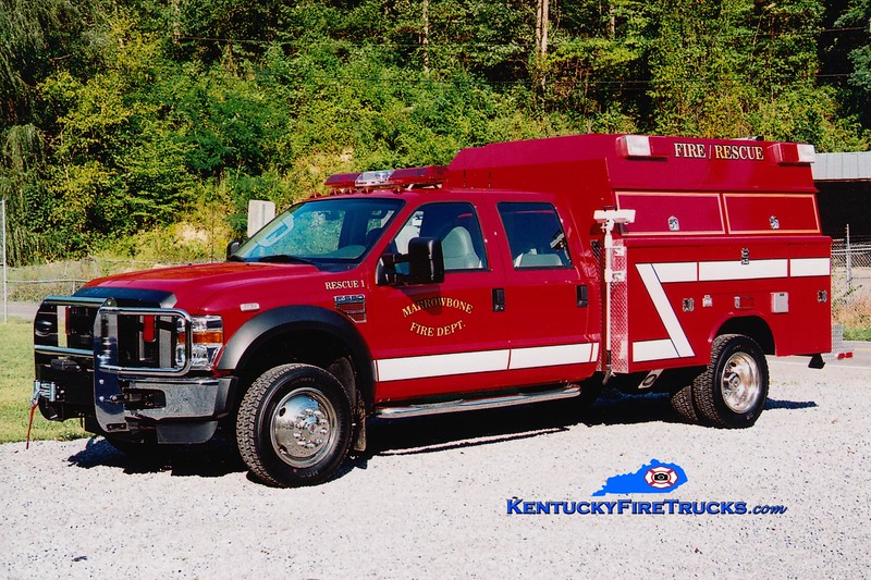 <center> Marrowbone  Rescue 1<br> 2008 Ford F-550 4x4/Reading/Fouts Bros  <br> Greg Stapleton photo </center>
