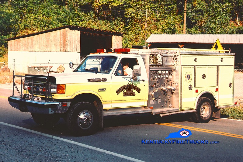 <center> RETIRED <br> Marrowbone  Rescue 3 <br> x-East Brandywine, PA <br> 1989 Ford F-350 4x4/4 Guys 750/250 <br> Greg Stapleton photo </center>