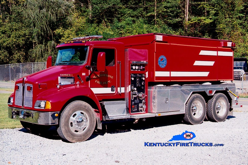 <center> Marrowbone  Tanker 1 <br> 2008 Kenworth T-300/Fouts Bros 500/3000 <br> Greg Stapleton photo </center>