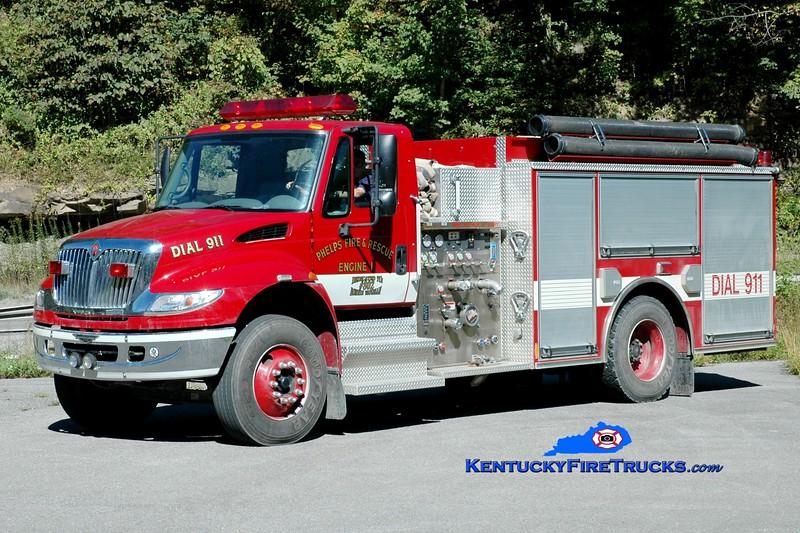 <center> Phelps  Engine 2  <br> x-Engine 1 <br> 2005 International 4400/Pierce 1250/1000 <br> Greg Stapleton photo </center>