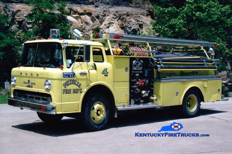 <center> RETIRED <br> Pikeville  Engine 4  <br> 1968 Ford C/Boardman 750/500 <br> Greg Stapleton photo </center>