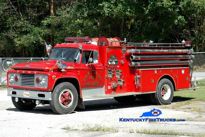 <center> Shelby Valley  Engine 2  <br> x-Bart Twp, PA <br> 1969 Ford F-950/Boyer 750/1000 <br> Greg Stapleton photo </center>