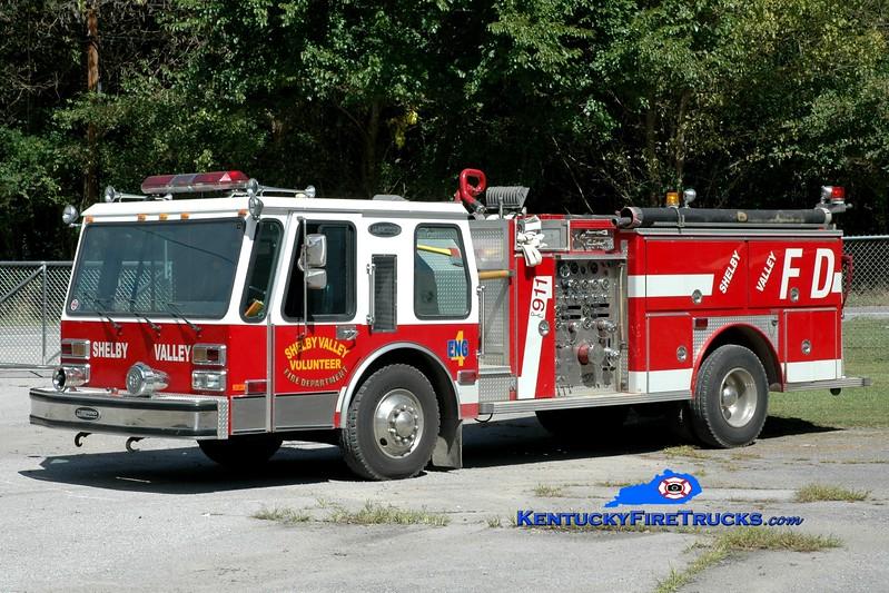 <center> Shelby Valley  Engine 4  <br> x-Punta Gorda, FL <br> 1984 E-One Hurricane 1250/750 <br> Greg Stapleton photo </center>