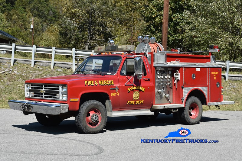 Sycamore Engine 4<br /> x-Olive Hill, KY <br /> 1987 Chevy K30 4x4/Allegheny 250/250<br /> Greg Stapleton photo