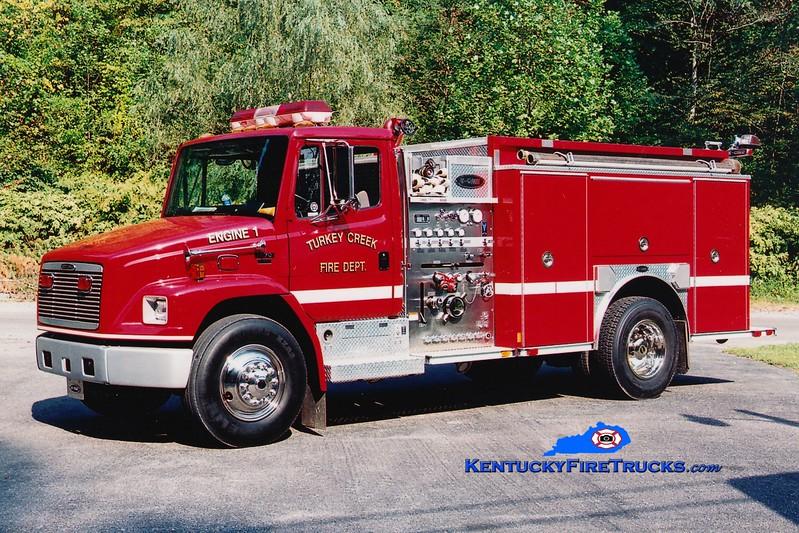 <center> Turkey Creek  Engine 1 <br> 2001 Freightliner FL70/E-One 1250/1000 <br> Greg Stapleton photo </center>