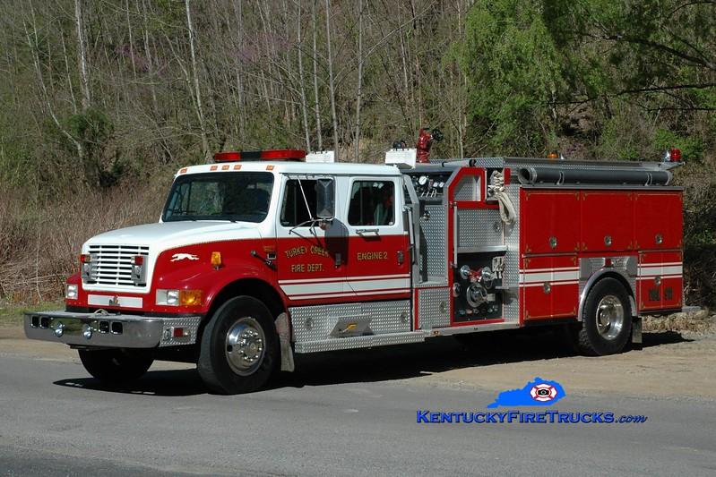 Turkey Creek  Engine 2<br /> x-Lower Burrell, PA <br /> 1993 International 4900/Ferrara 1250/1000<br /> Greg Stapleton photo