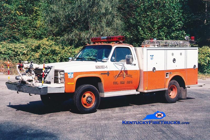 <center> RETIRED <br> Turkey Creek  Rescue 1 <br> 1984 Chevy/Marion 750/20 <br> Greg Stapleton photo </center>