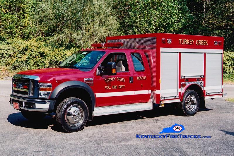 <center> Turkey Creek  Rescue 1 <br> 2007 Ford F-450 4x4/E-One <br> Greg Stapleton photo </center>