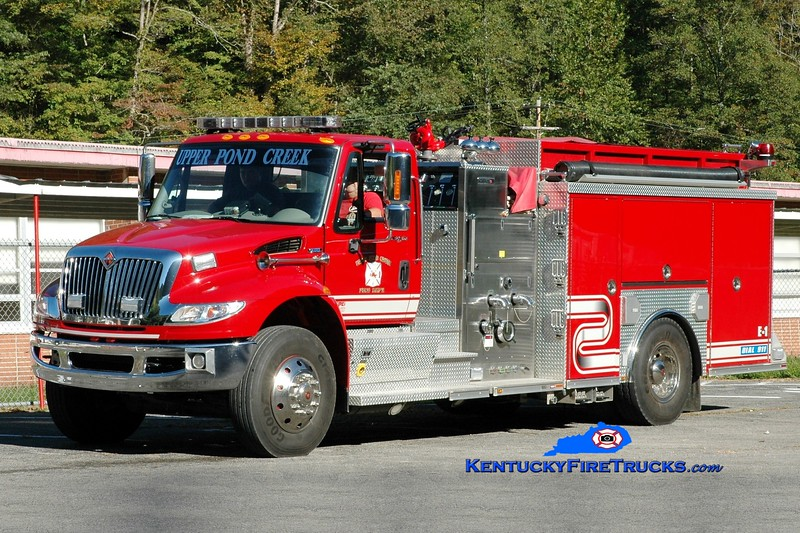 <center> Upper Pond Creek  Engine 1  <br> 2008 International 4400/Crimson 1500/1250 <br> Greg Stapleton photo </center>