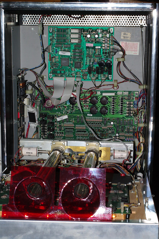 Safecracker backbox. The token mechanism is at the bottom of the picture.