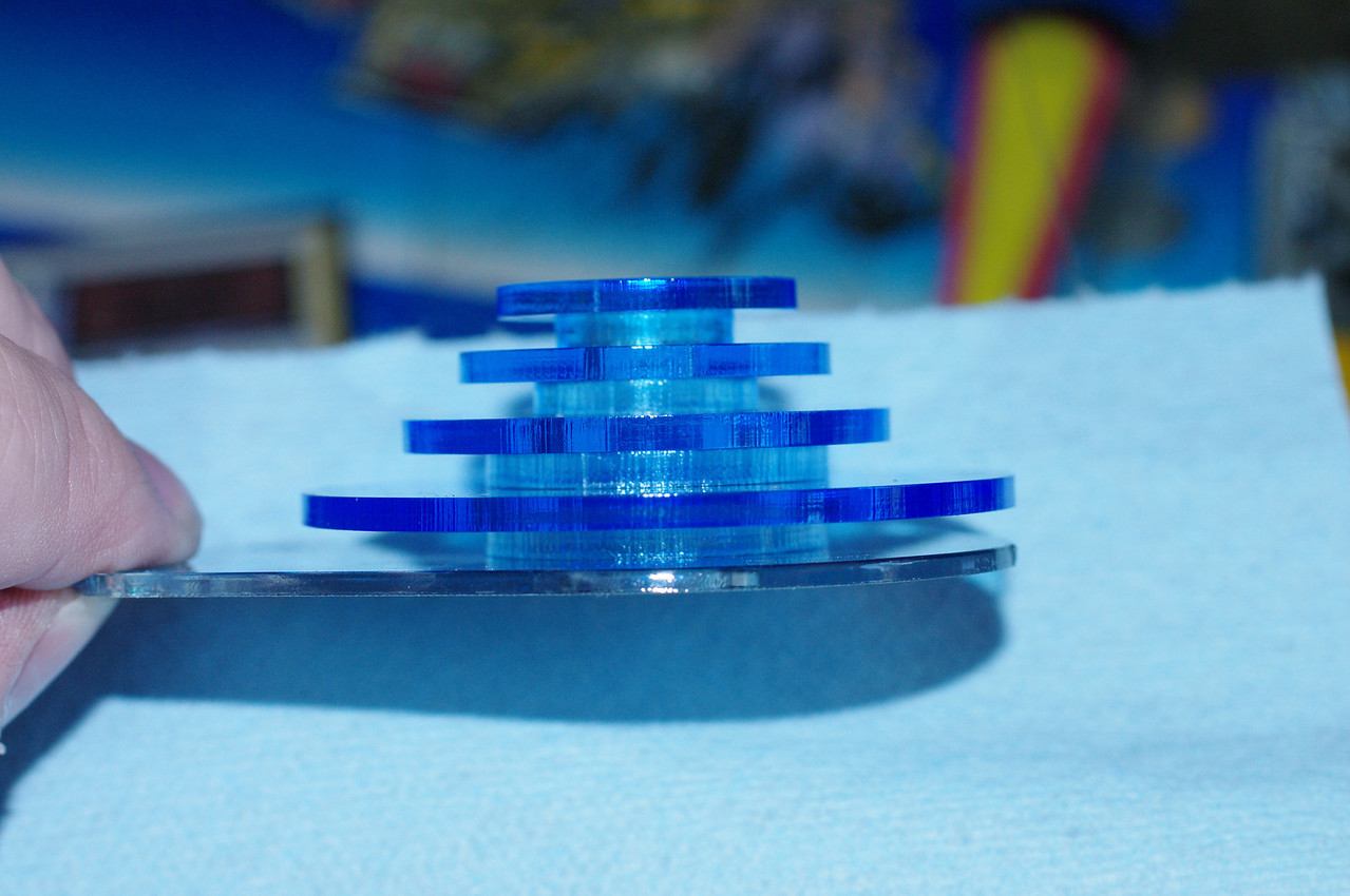 Side view of the completed GEM stack.