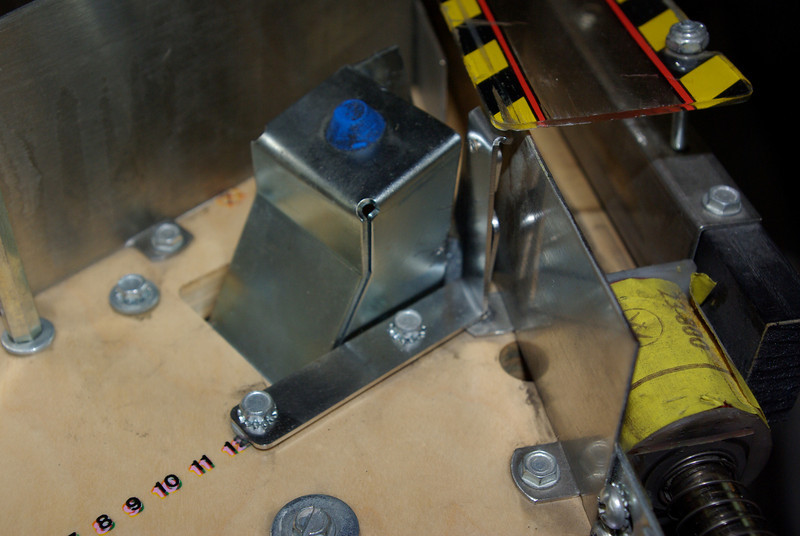 Here's our stainless steel ballstop - plenty of clearance to work on this machine.