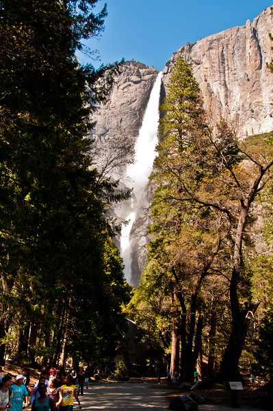The Upper and Lower Yosemite Falls