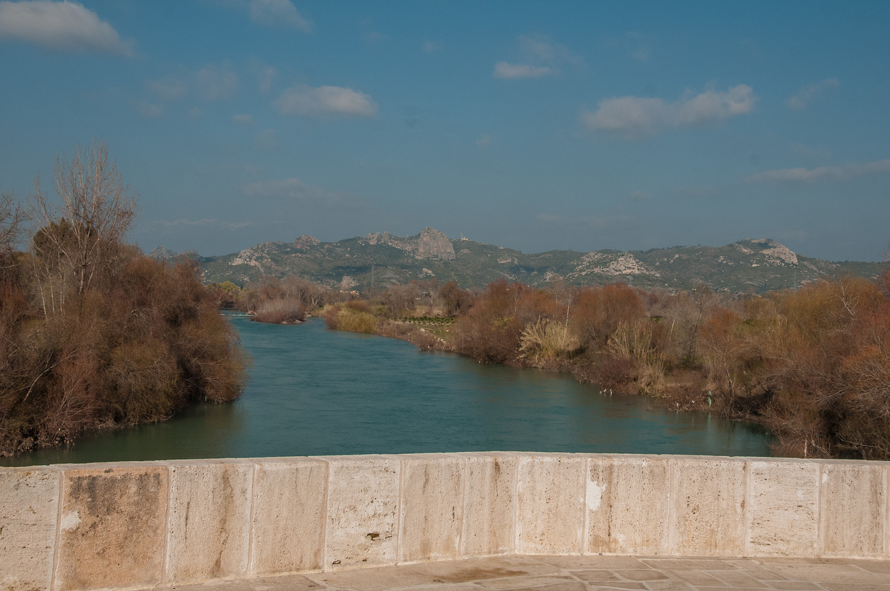 The view from the  Roman Eurymedon Bridge.