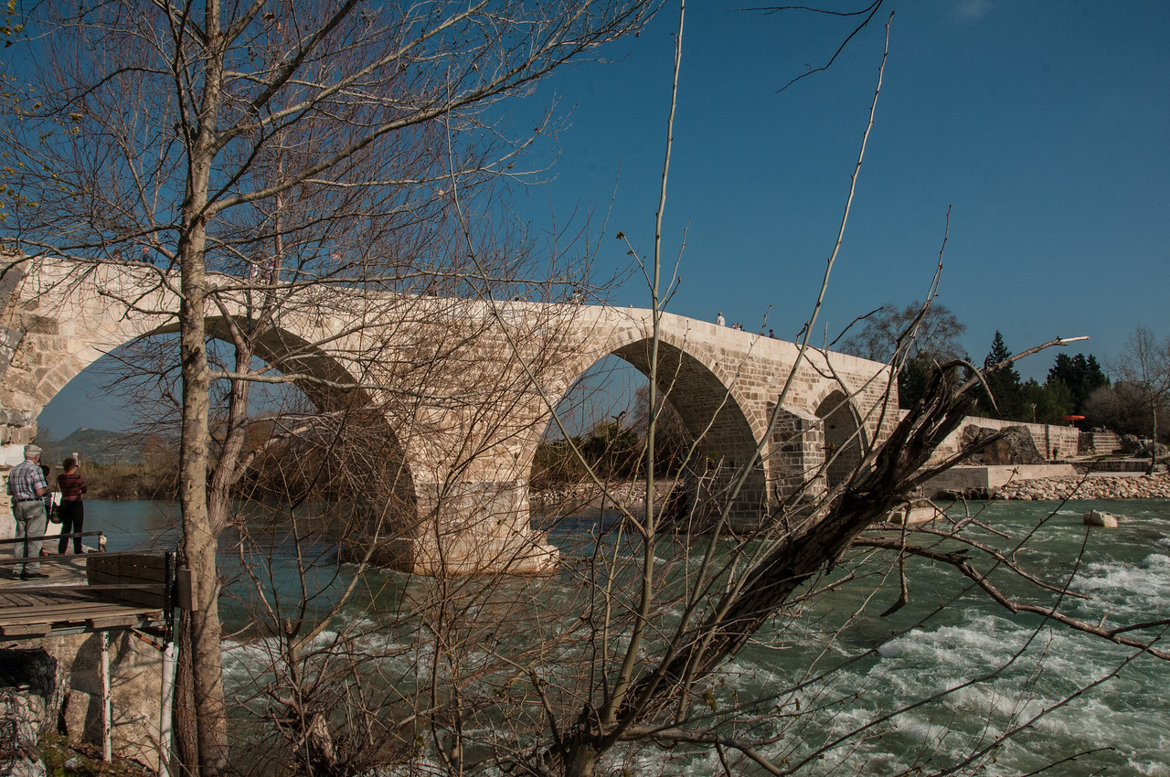 The Roman Eurymedon Bridge, reconstructed in the 13th century