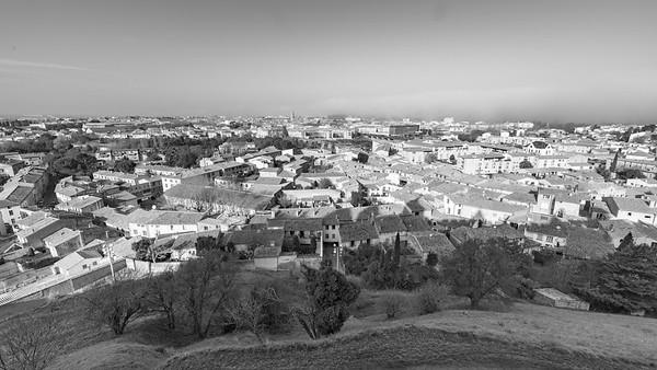 La ville basse de Carcassonne, depuis la Cité