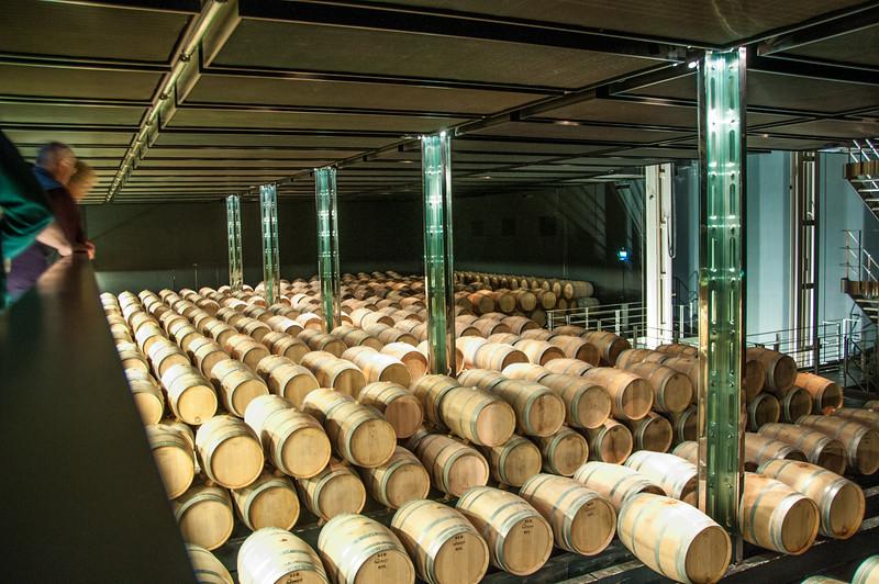Château Cos d'Estournel - the barrel storage